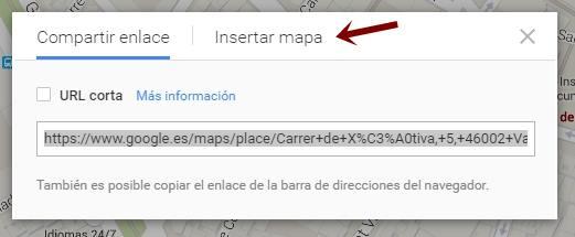 como insertar mapa de google maps
