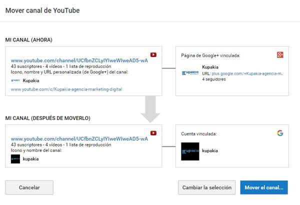 vinculando canal youtube a pagina google plus