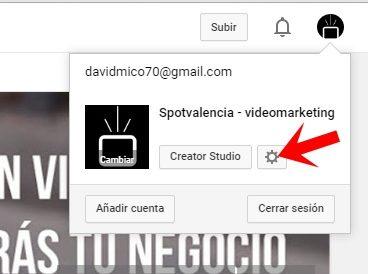 nombrar administradores canal youtube configuración