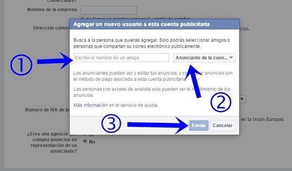 asignar roles cuenta publicitaria facebook