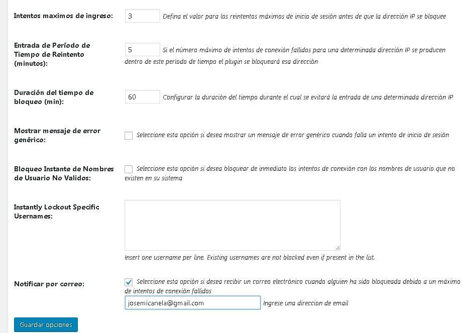 bloquaer-accesos-wordpress