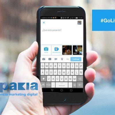 GoLive. Cómo emitir videos en directo con Twitter