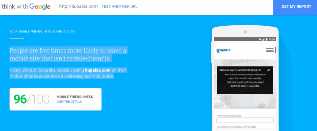 Que es Test My site de Google y porque optimizar mi web