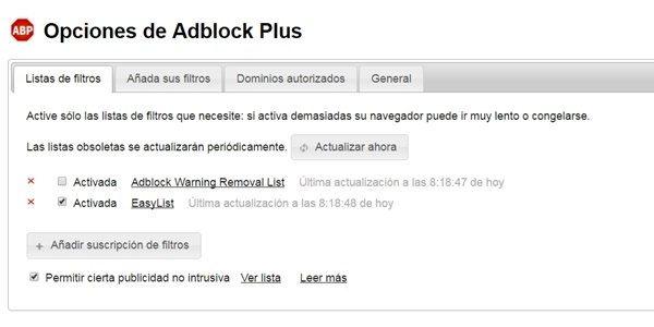 adblock eliminar publicidad de internet