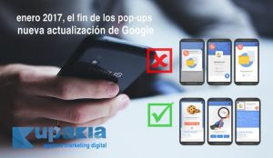 penalización google contra las webs con pop-ups