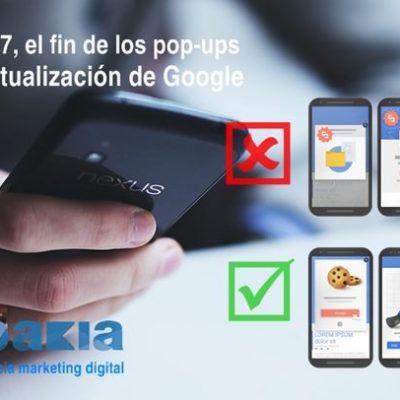 Google penalizará webs con pop-ups sobre todo en dispositivos móviles