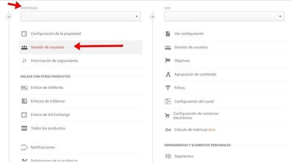 permisos administrador google analytics paso 2