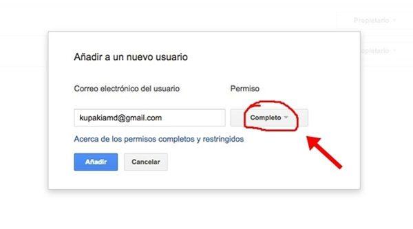 permisos administrador search console paso 3