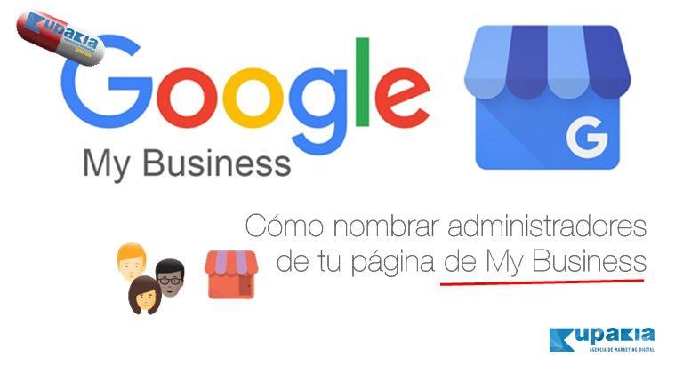 google my bussines nombrar administradores
