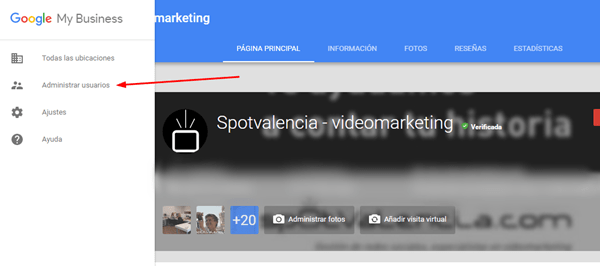 administradores en google my business
