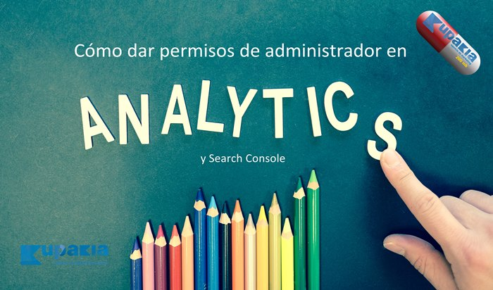 permisos administrador analytics y search console