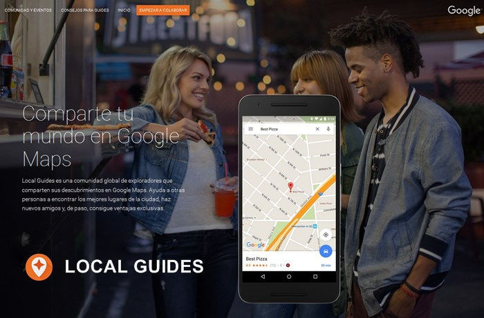 Local Guides programa de Google Maps