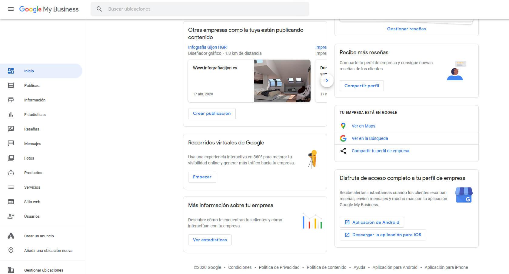 herramientas google my business